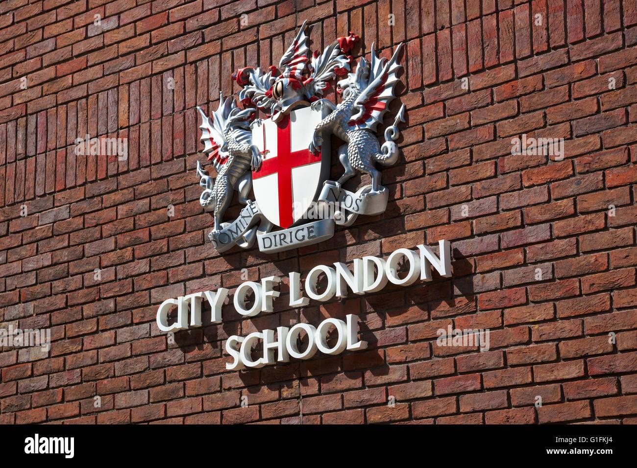 City of London School emblem - Stock Image