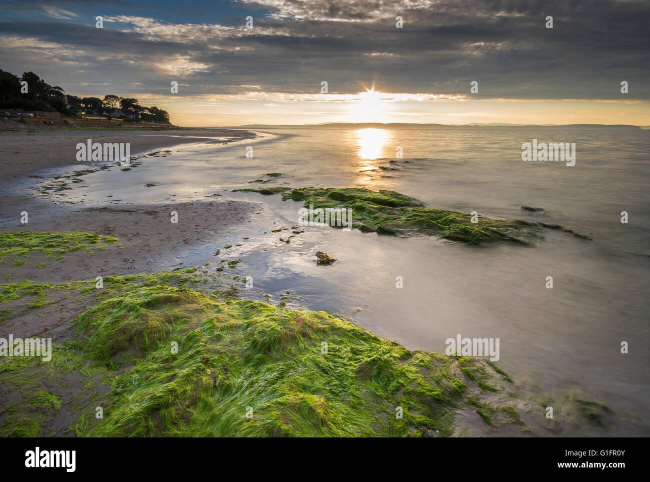 Nairn Beach, Sunset - Stock Image