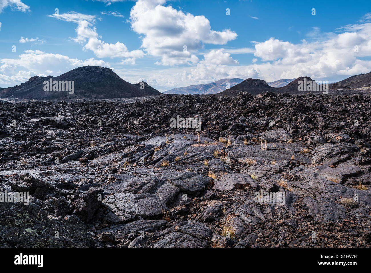 Craters of the Moon National Monument, Idaho. Stock Photo