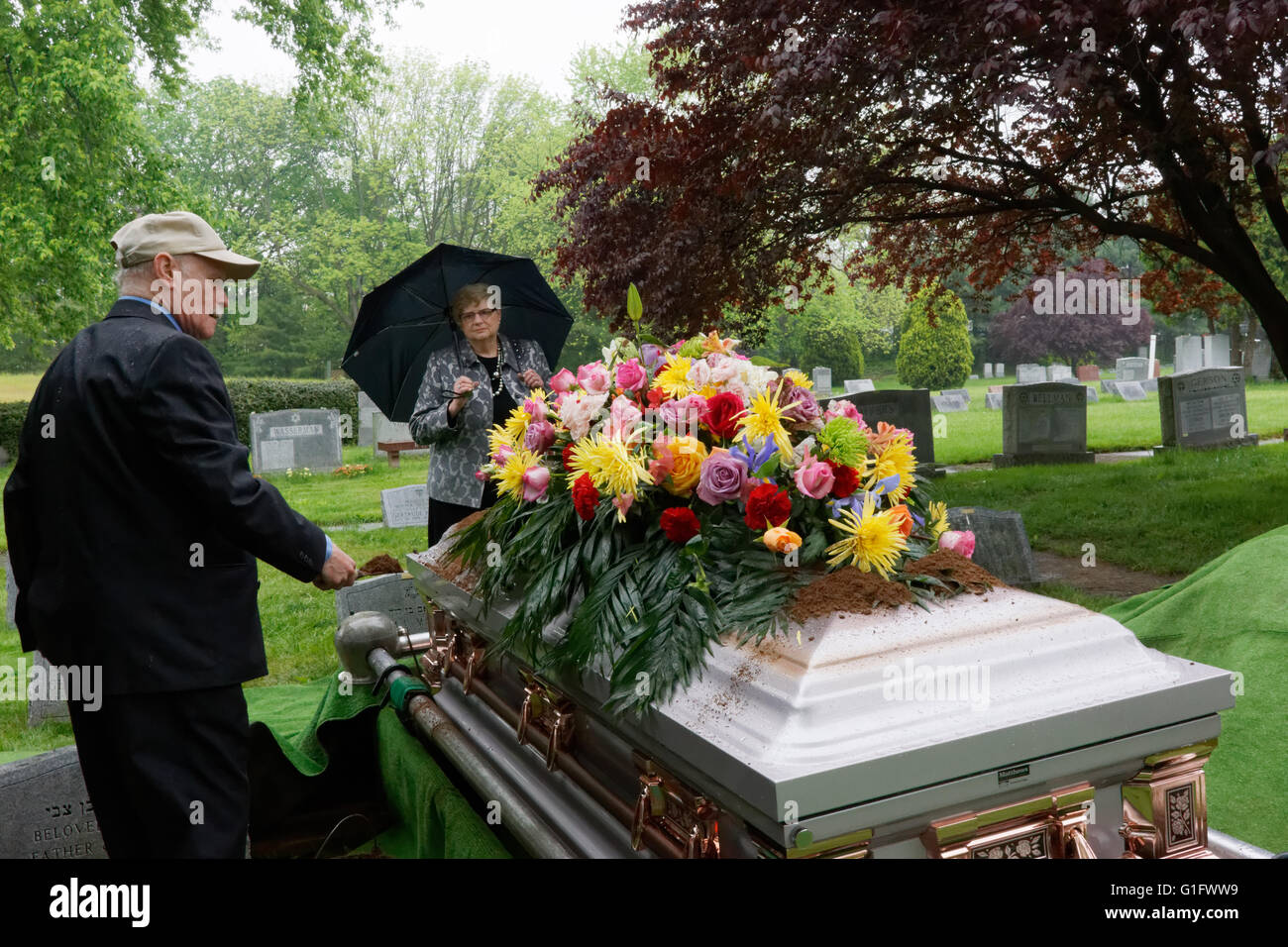 Funeral Coffin Flowers Stock Photos Funeral Coffin Flowers Stock
