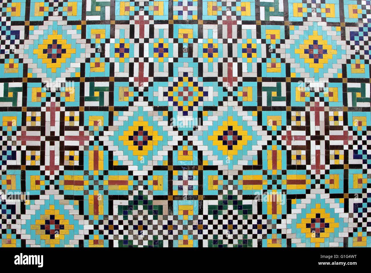 Original iranian mosaic tiles decoration stock photo for Decoration original