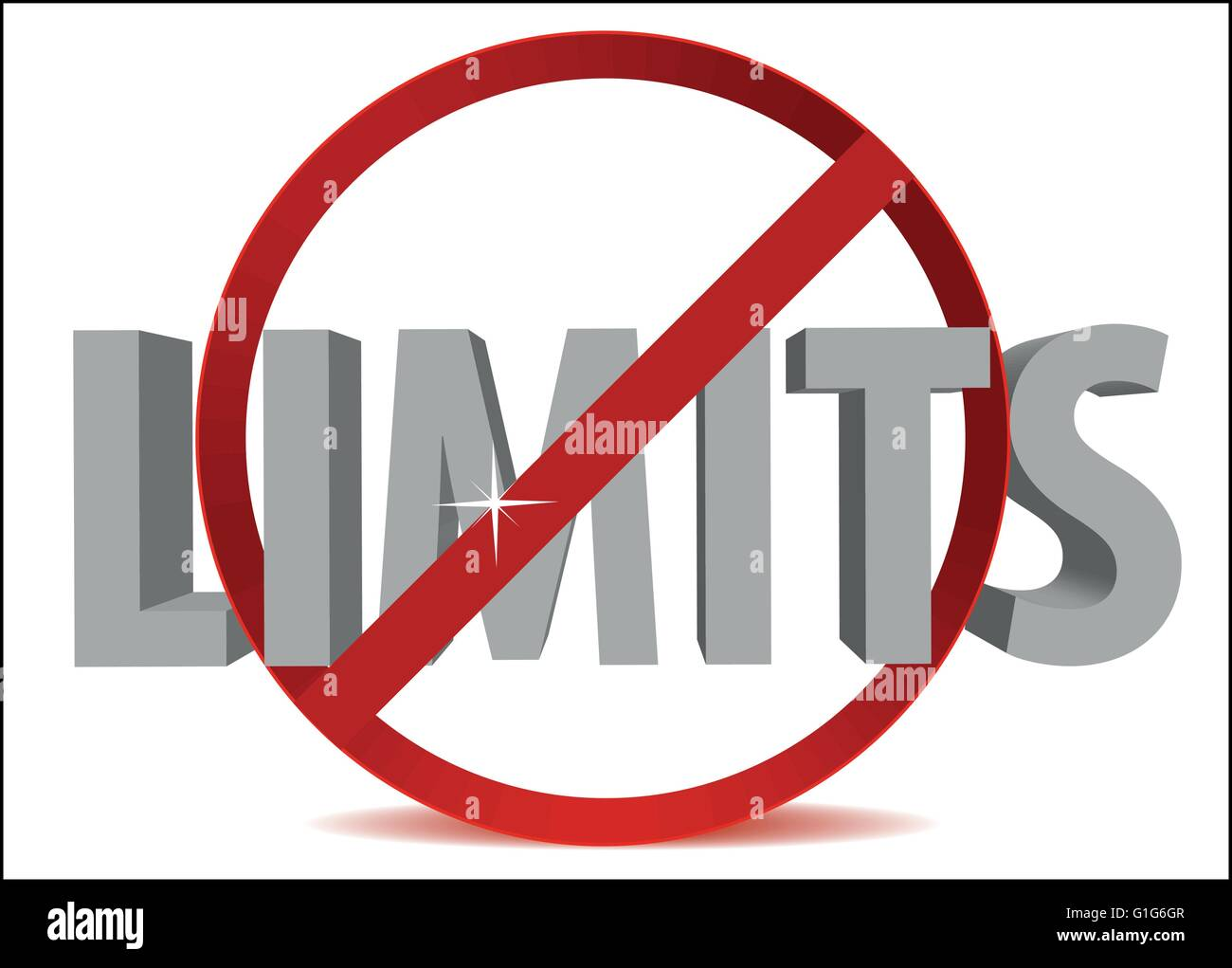 EPS Vector 10 - 3 dimensional limits off text in circle - Stock Vector