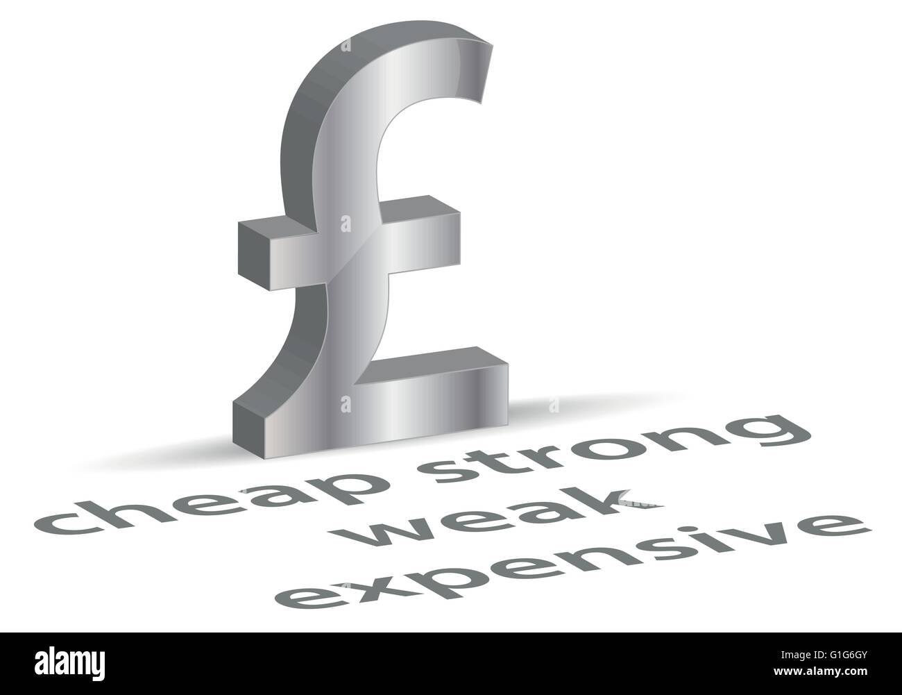 EPS Vector 10 - 3 dimensional pound symbol - Stock Vector