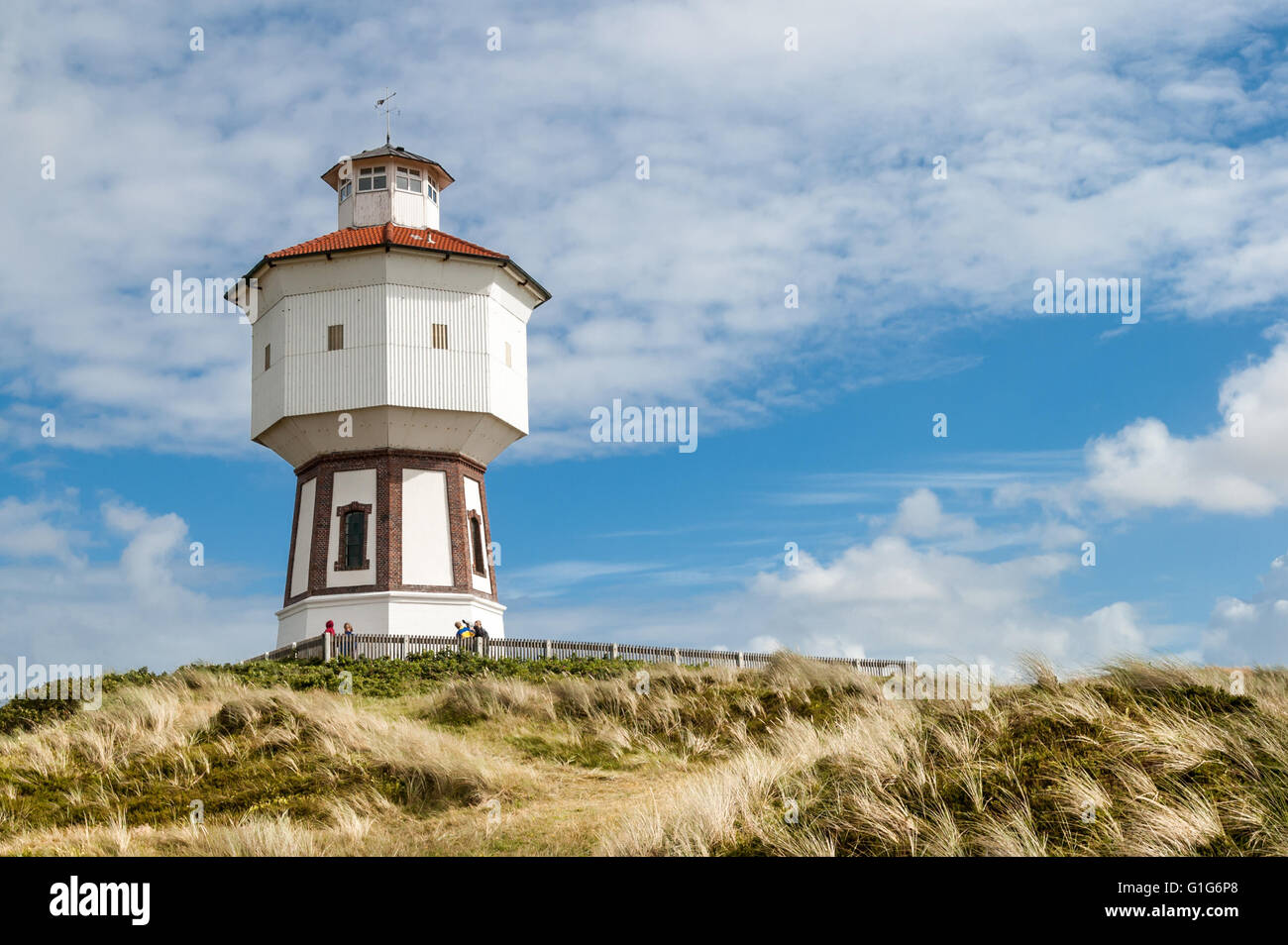 Water tower in the dunes of the East Frisian island Langeoog, Lower Saxony, Germany Stock Photo