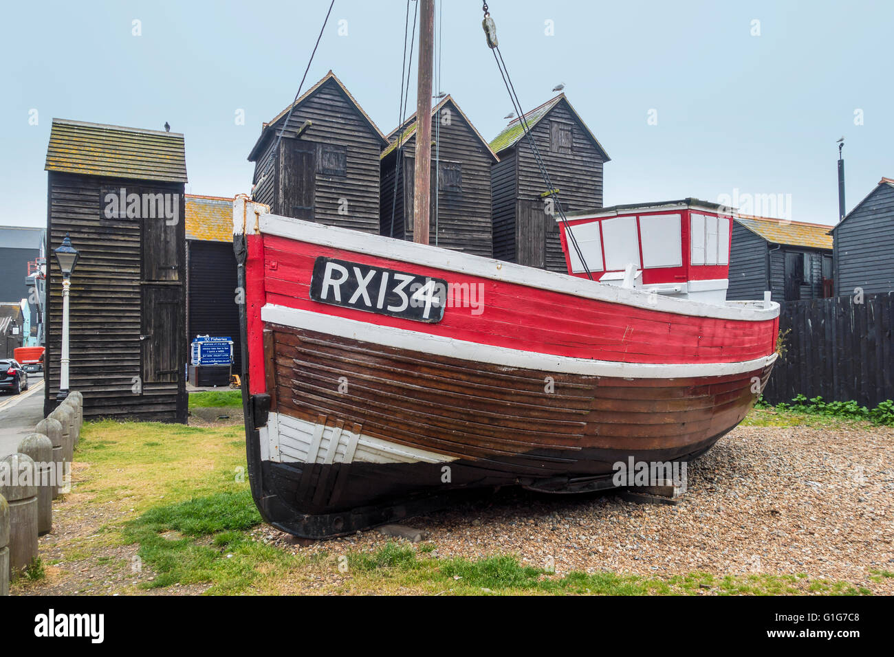 Hastings Fishing Boat Trawler RX134 Rock a Nore Road The Stade East Sussex - Stock Image