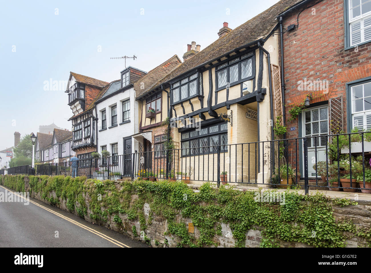 All Saints Street Hastings Old Town Hastings East Sussex - Stock Image