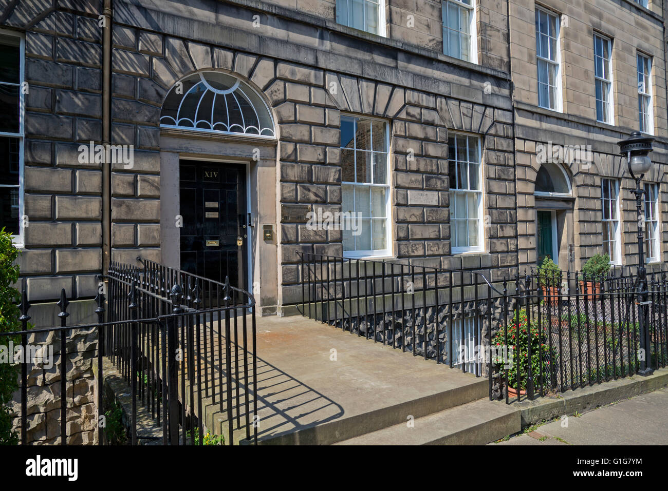 14 India Street in Edinburgh's New Town, the birthplace of James Clerk Maxwell (1831-79). - Stock Image