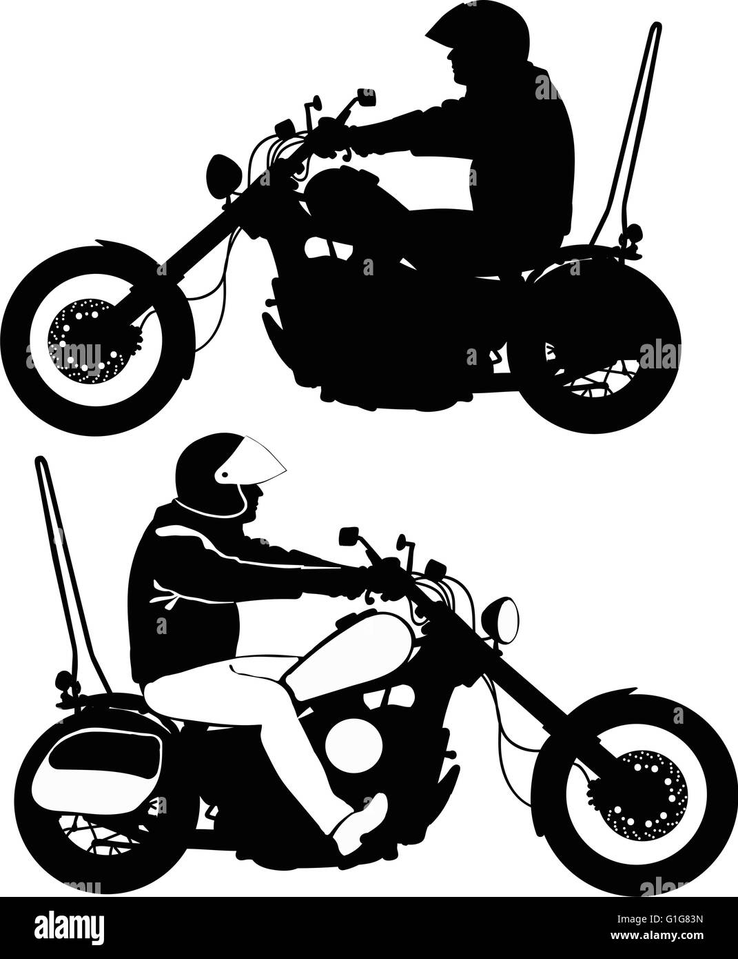 vintage race helmet black and white stock photos images alamy All American Soap Box Derby biker on motorcycle travels silhouette in black and white stock image