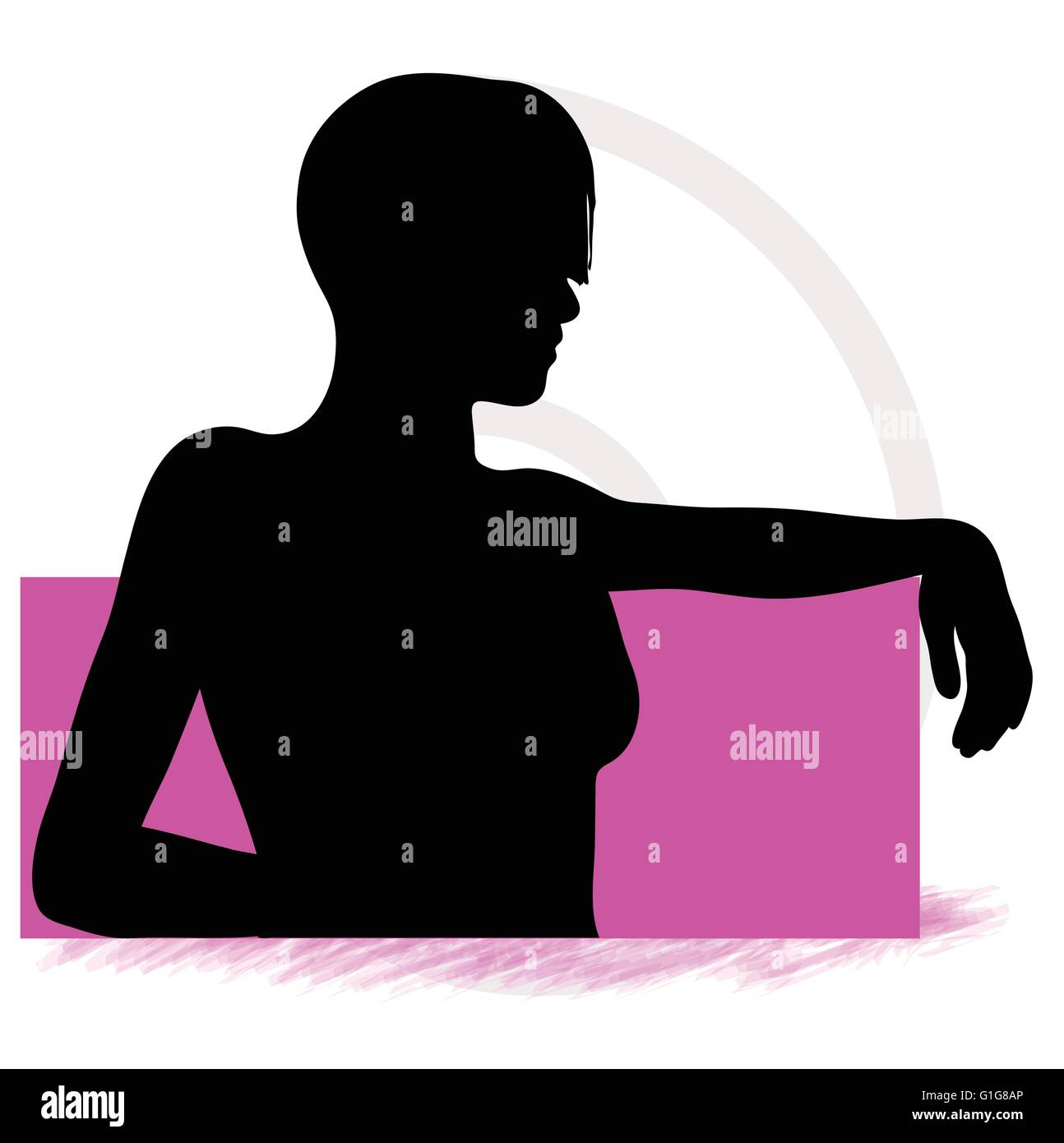 EPS Vector 10 - Girl or  young women sitting on sofa - Stock Vector