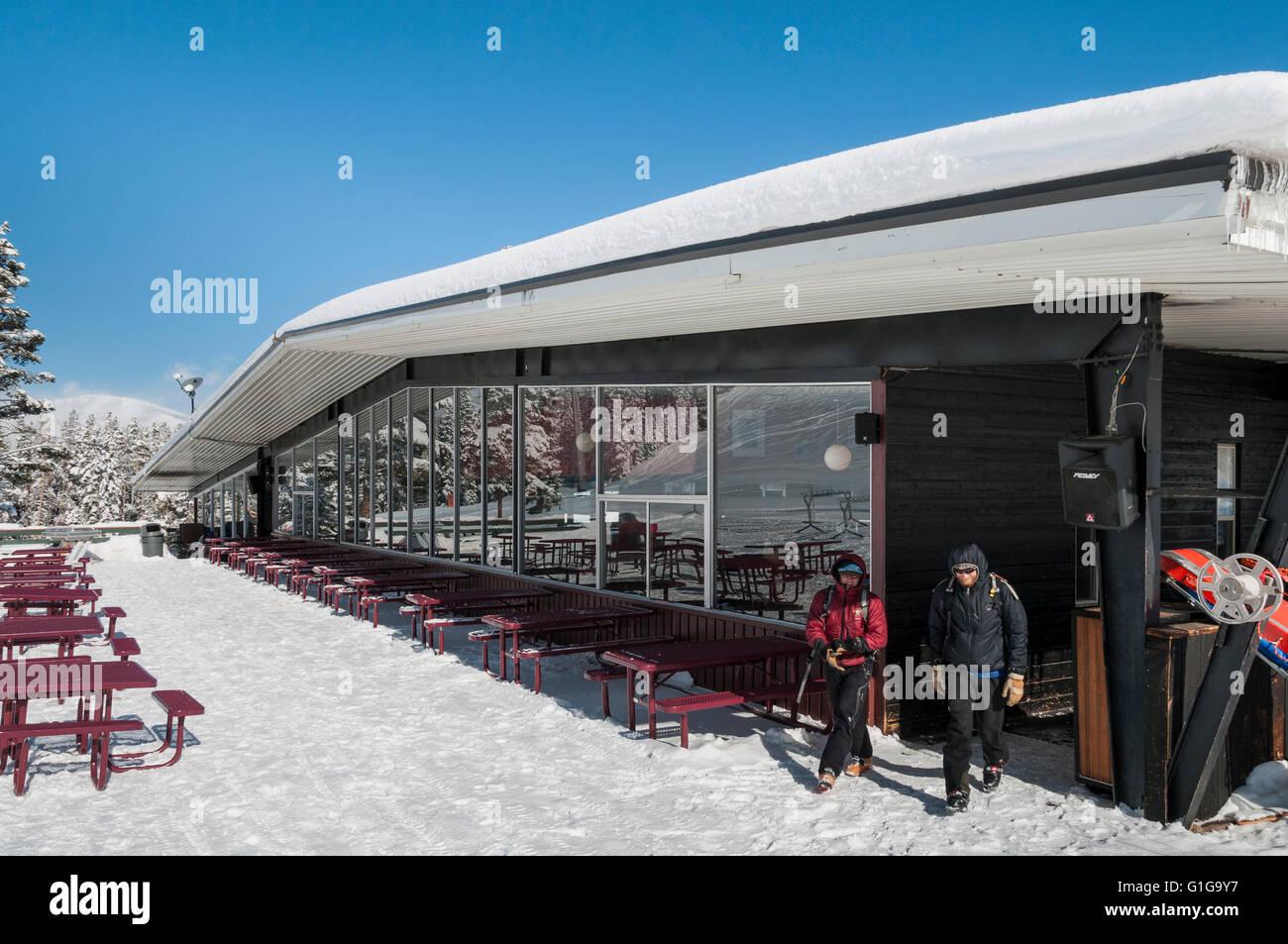 Merry-Go-Round midmountain day lodge, Aspen Highlands Ski Area, Aspen, Colorado. - Stock Image
