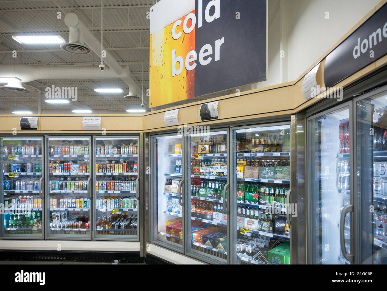 Beer being sold for the first time in supermakets within the