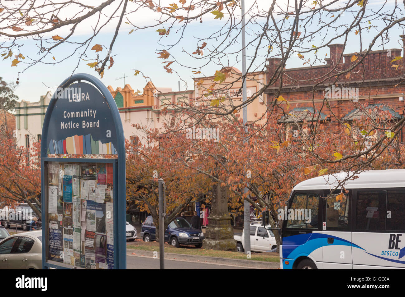 The village of Leura in the Blue Mountains Sydney, Australia, popular village with tourists and visitors to the - Stock Image