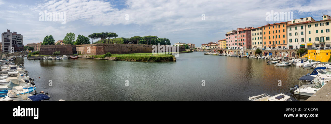Fortezza Nuova in Livorno, Tuscany Italy Stock Photo