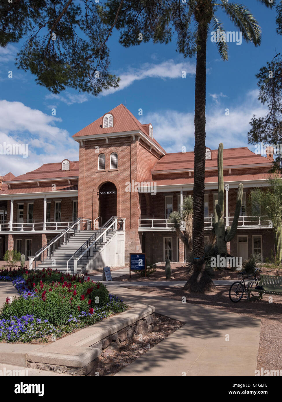 Old Main building, University of Arizona, Tucson, Arizona Stock