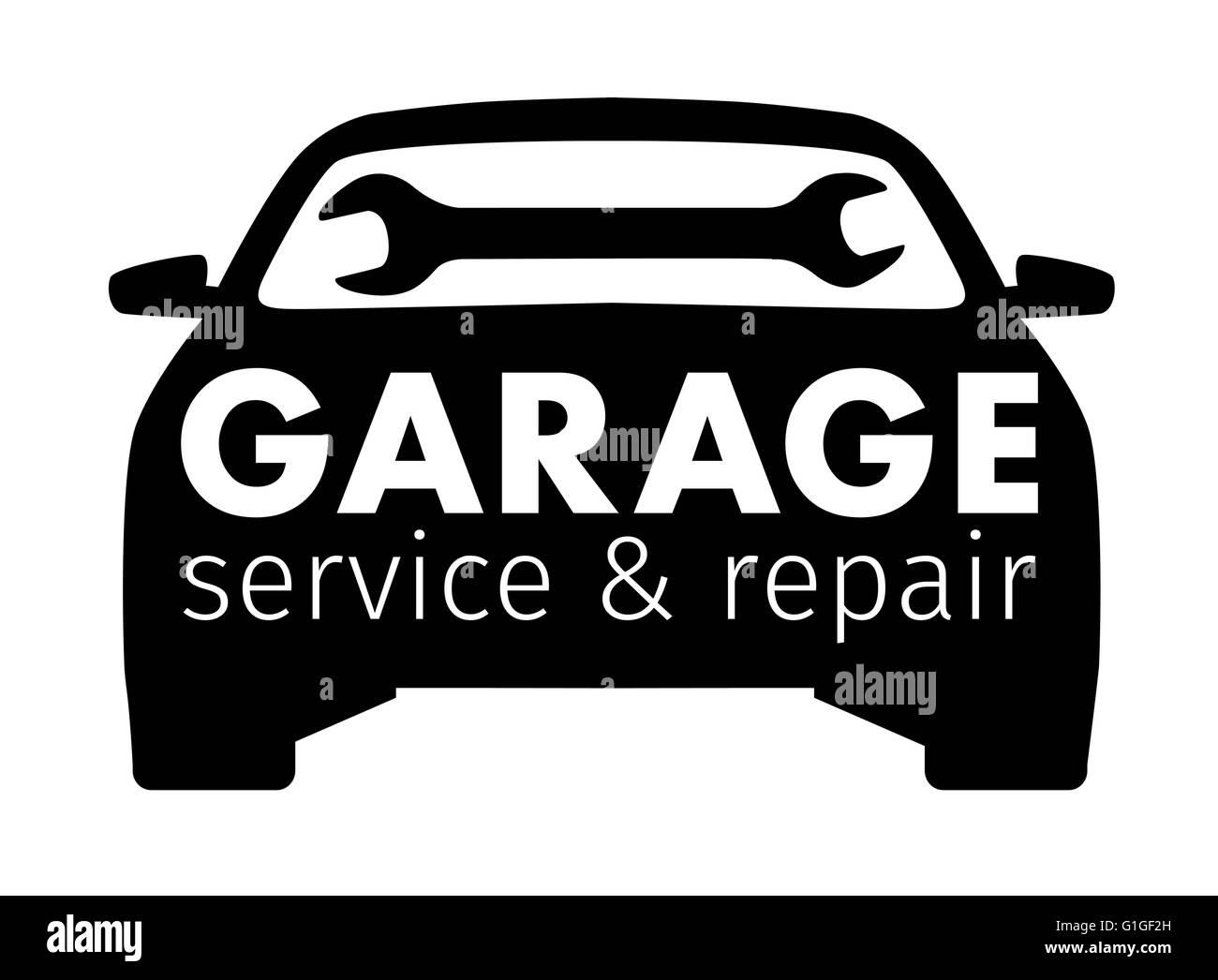 auto center garage service and repair logo vector template stock