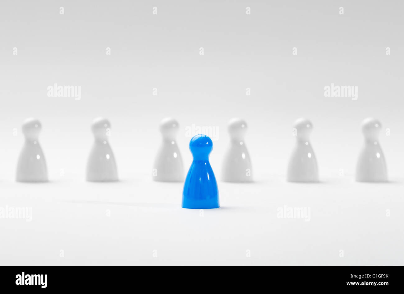 Leadership business concept with pawns. - Stock Image