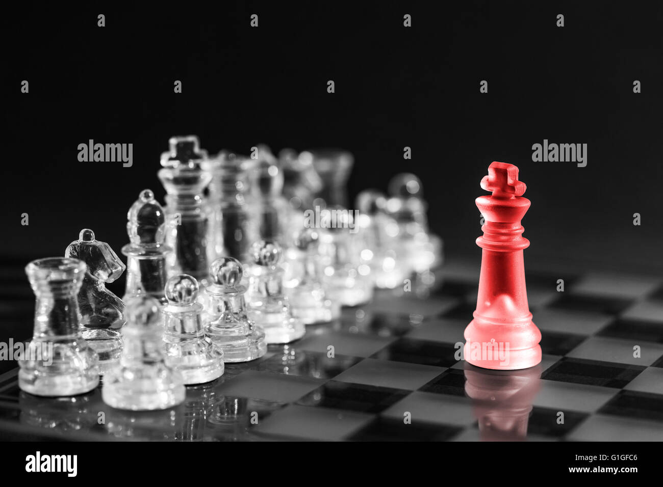 Chess business success, leadership concept. - Stock Image