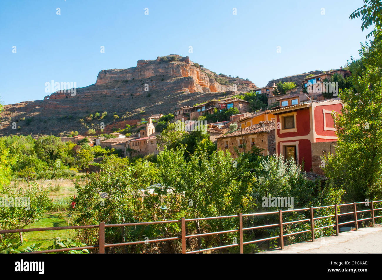 Overview. Somaen, Soria province, Castilla Leon, Spain. - Stock Image