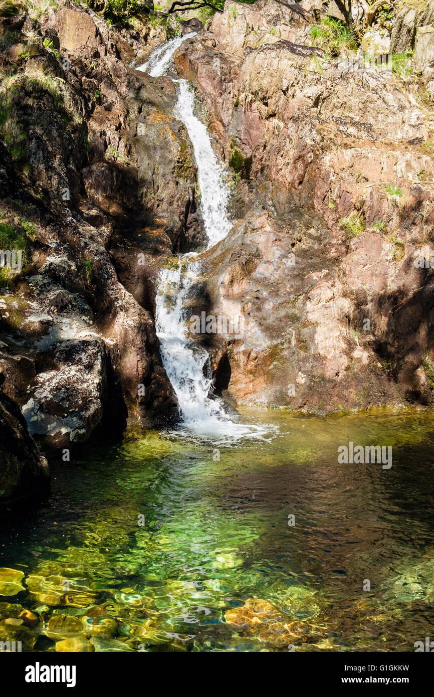 Craflwyn stock photos craflwyn stock images alamy - Crystal pools waterfall ...
