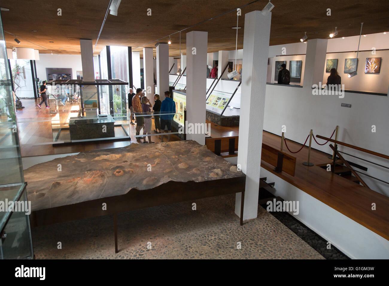 Timanfaya Volcano Interpretation and Visitors' Centre, Lanzarote, Canary Islands, Spain - Stock Image