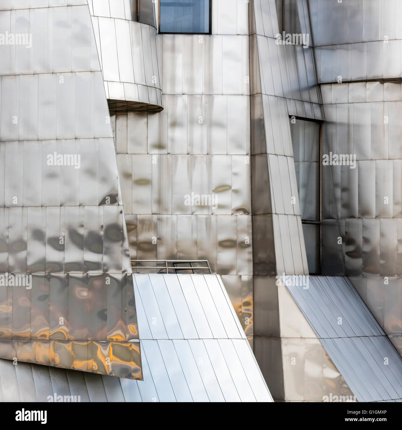 Detail of Frederick R. Wiseman Art Museum, University of Minnesota, Minneapolis. Designed by Frank Gehry - Stock Image