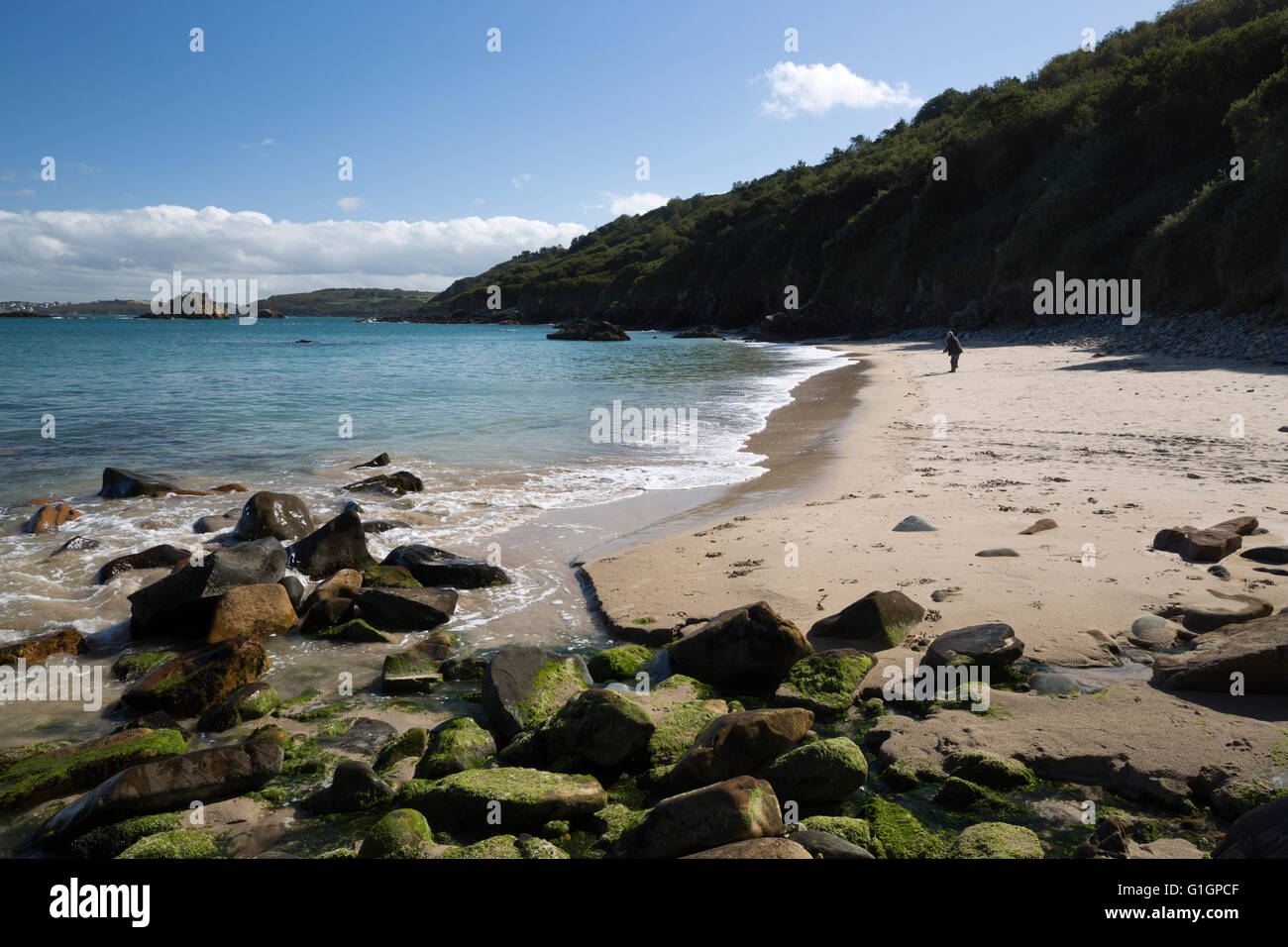 Beg An Fry beach, Locquirec, Finistere, Brittany, France, Europe - Stock Image