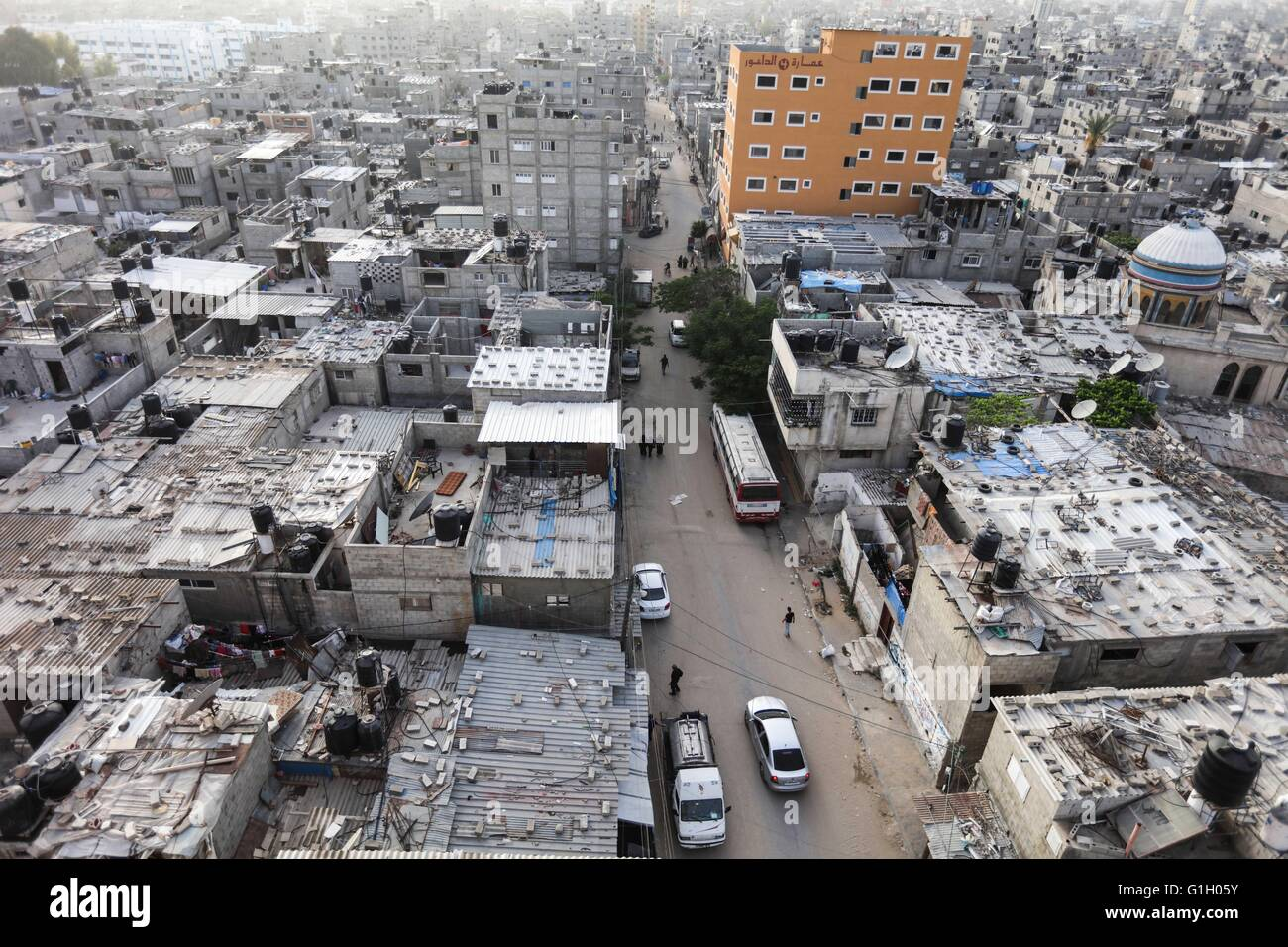 Palestinian Refugee Camp In The Gaza Strip Stock Photos