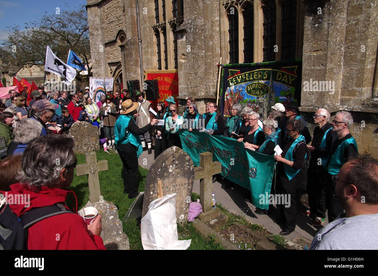 Levellers Day in Burdord. With the Levellers in the New Model Army demanding a say in a new writing constitution, - Stock Image