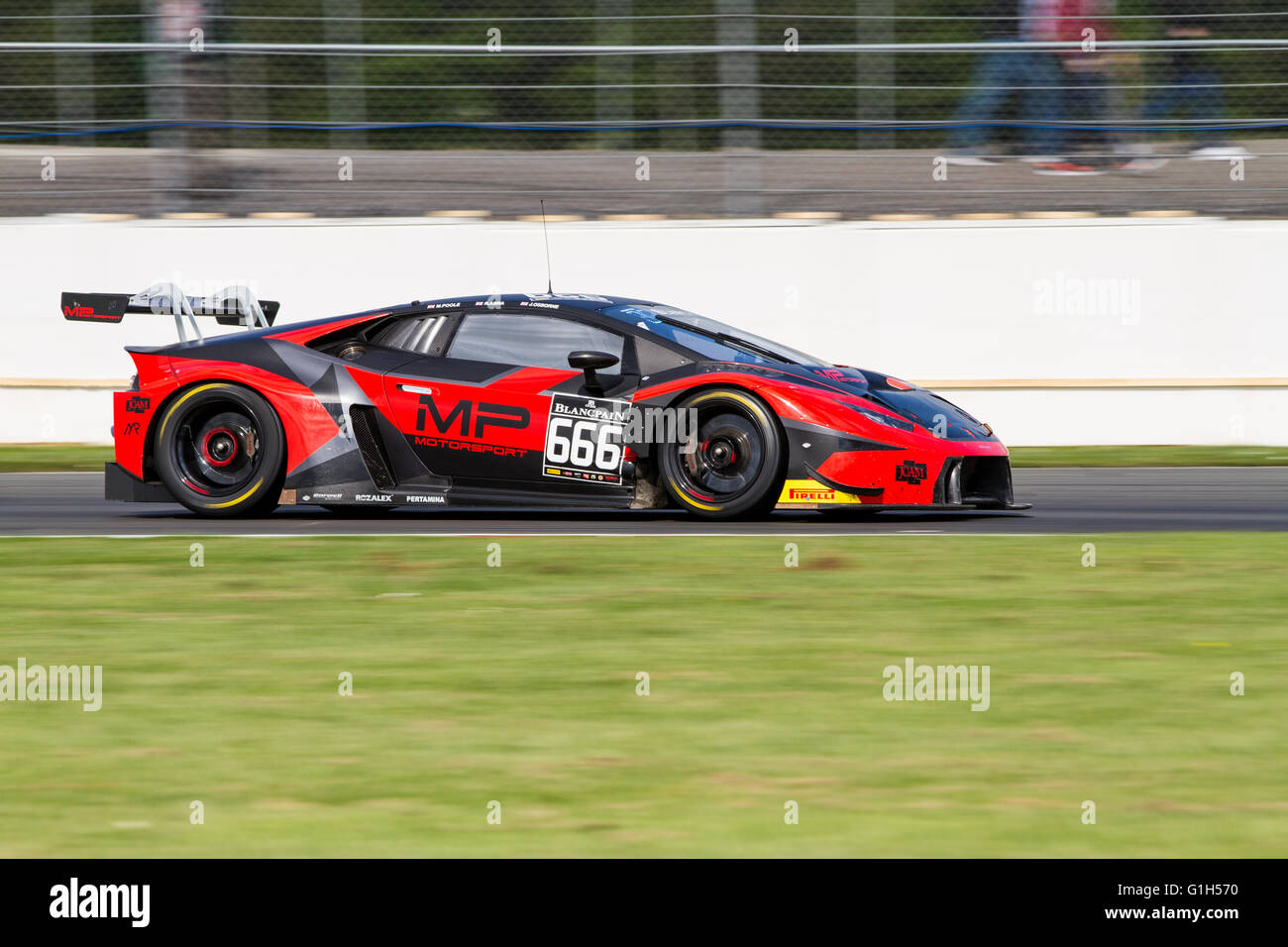 Silverstone, UK. 15th May, 2016. #666 Barwell Motorsport Lamborghini ...