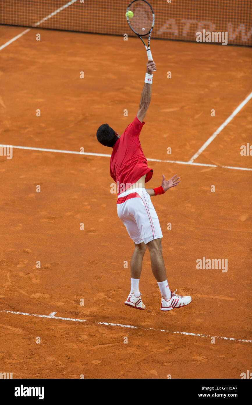 Rome, Italy. 15th May, 2016. Andy Murray and Novak Djokovic in the mens' final in the BNL Internationali in - Stock Image