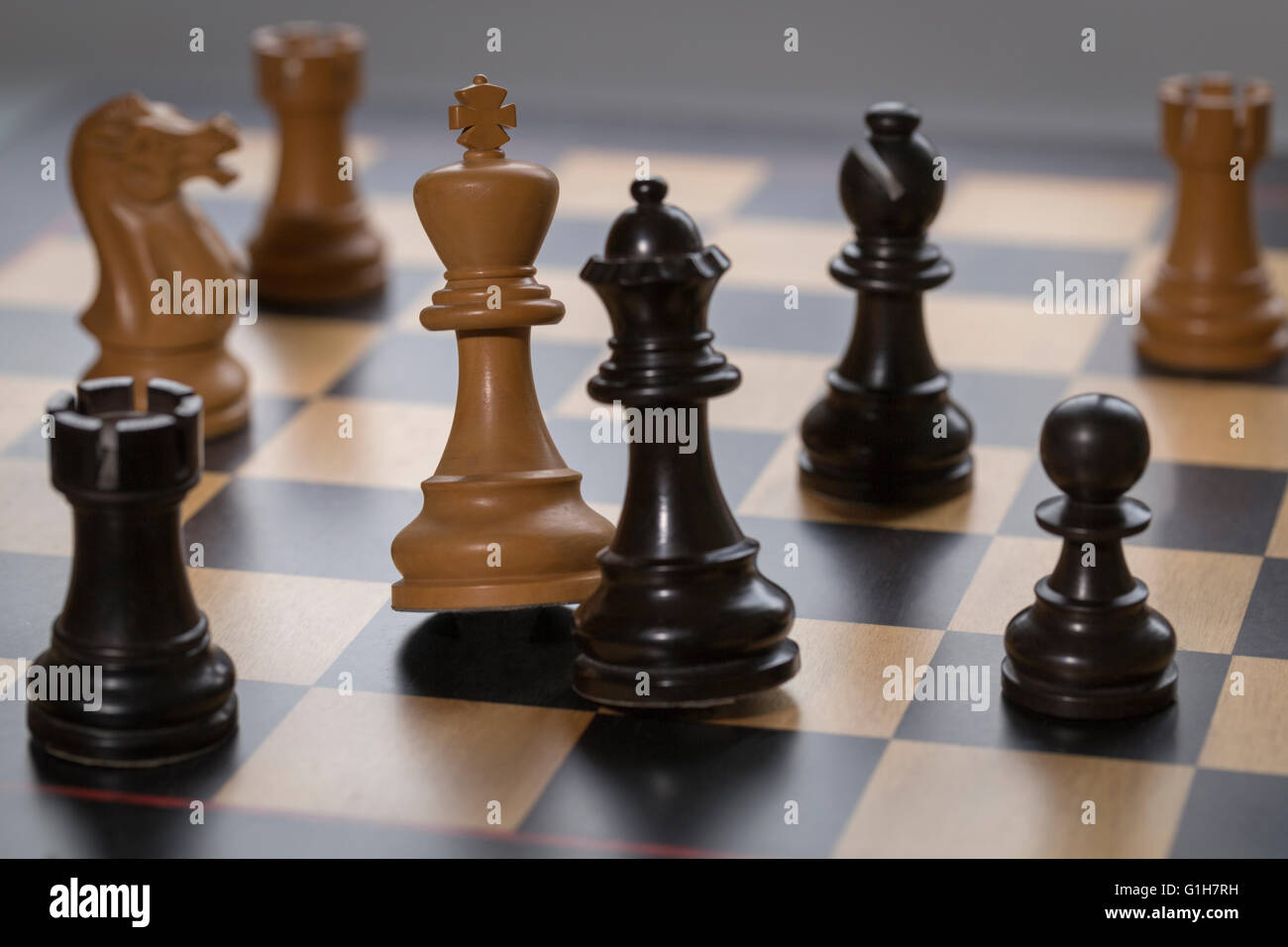 a chess game - Stock Image