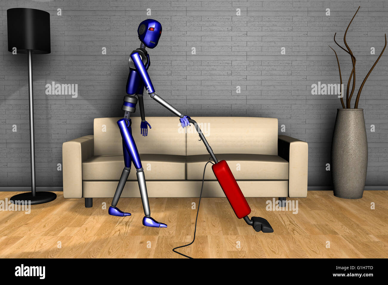 a robot of the future - Stock Image