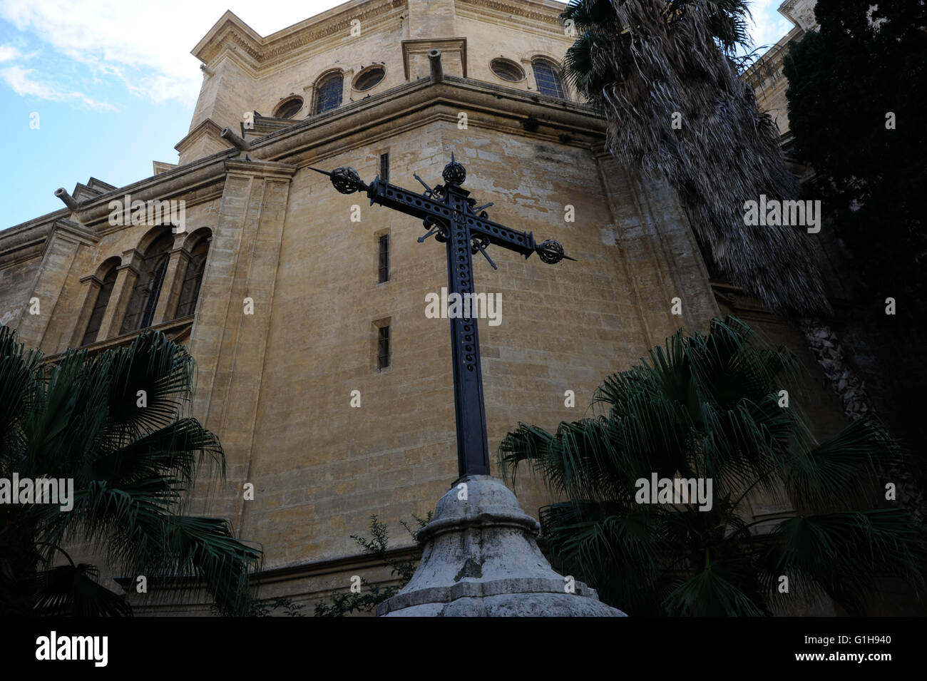 Cross, redemption, the Cathedral of Malaga - Stock Image
