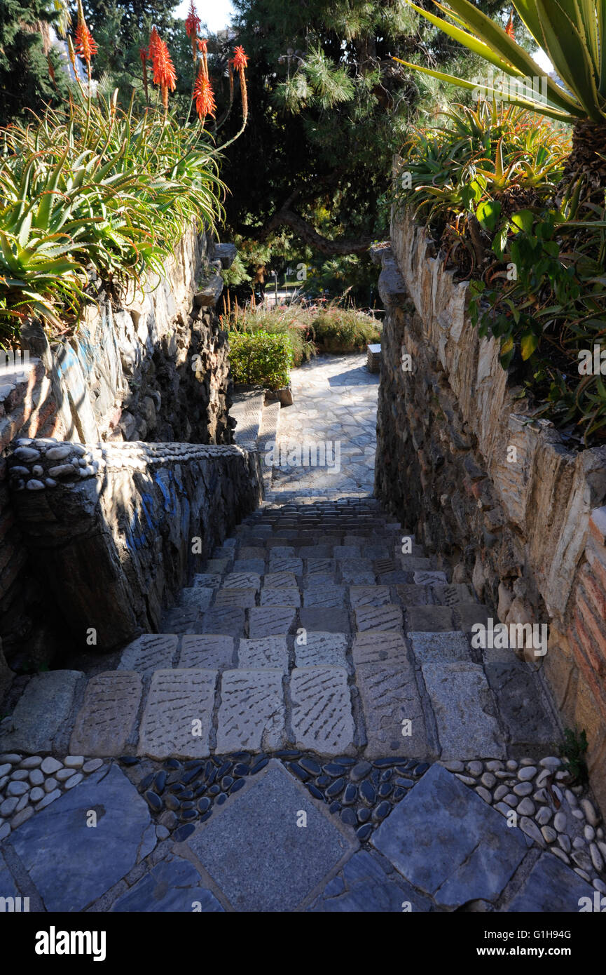 stairs , stair,looking down,Malaga - Stock Image