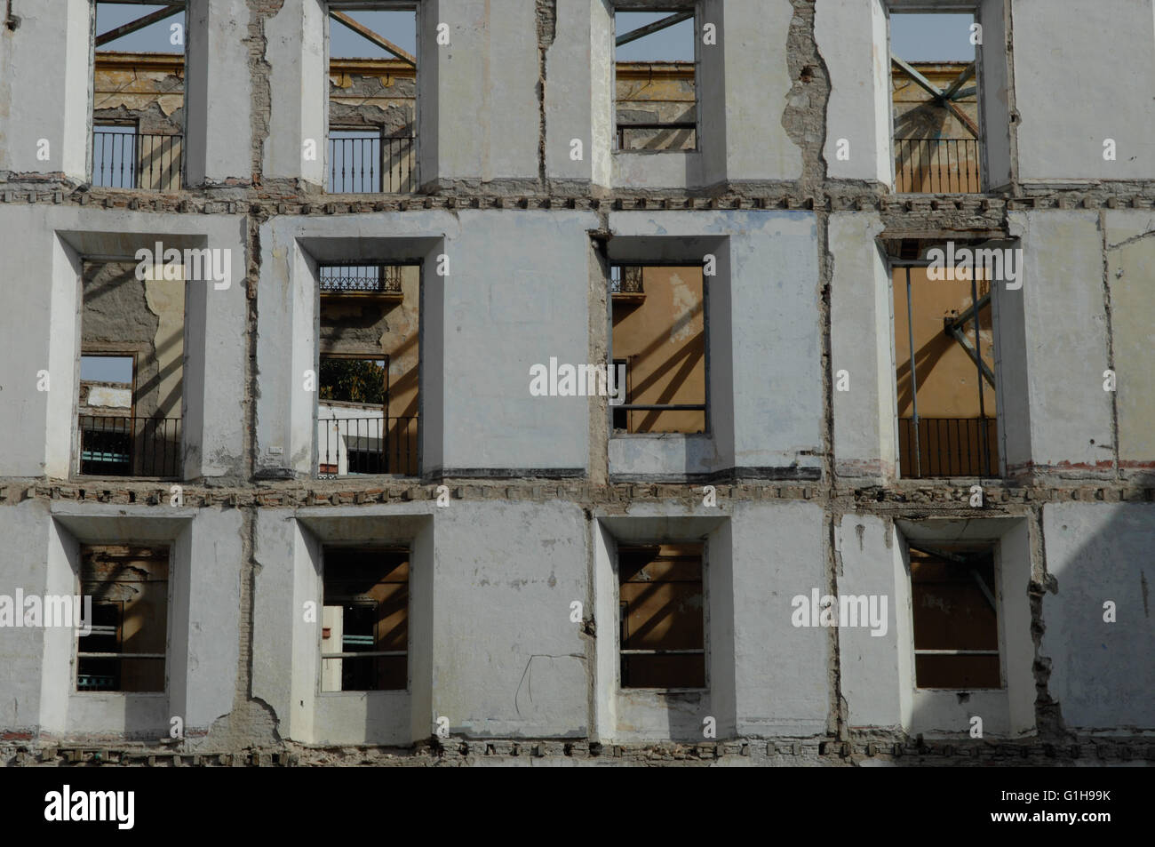 deserted, building,Malaga Spain - Stock Image
