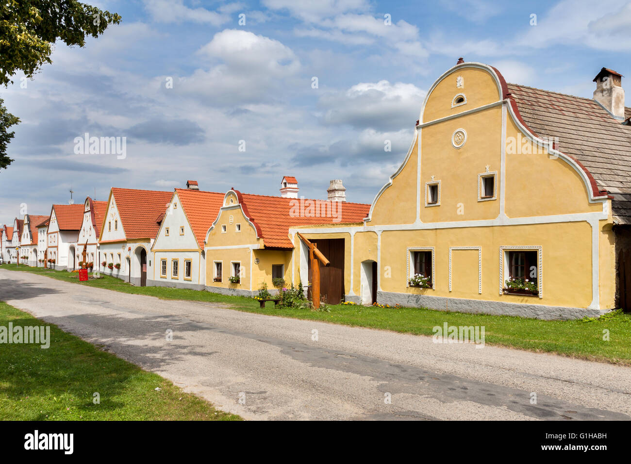 Czech Republic - UNESCO village Holasovice in South Bohemia - Stock Image