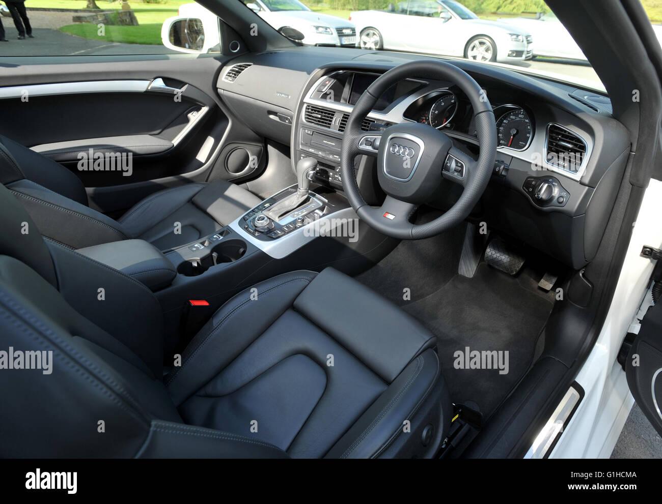 2009 Audi A5 Convertible V6 Tdi Diesel Interior Stock Photo Alamy