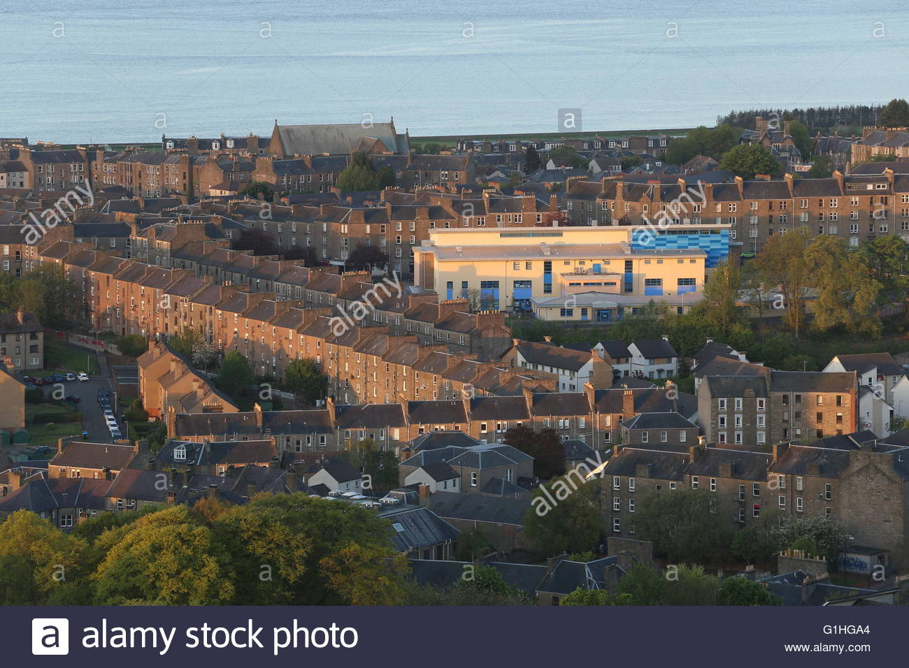 Elevated view of St Joseph's Primary School Dundee Scotland May 2016 - Stock Image