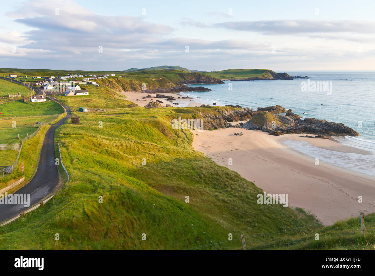 Durness and north coast 500 route - Stock Image