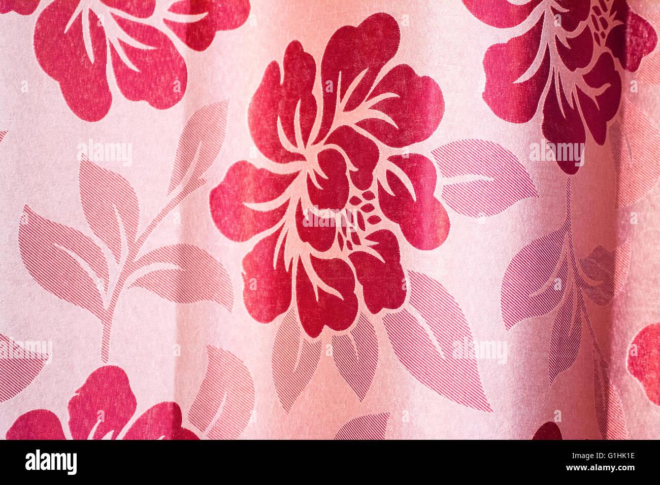 flower pattern form textile - Stock Image