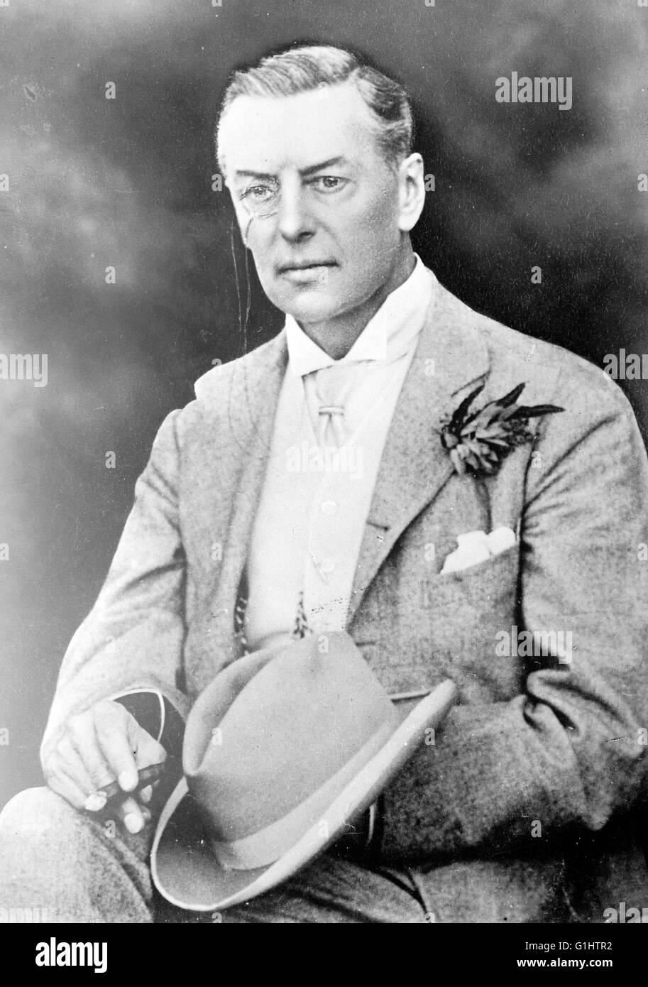 Joseph Chamberlain, British politician and statesman - Stock Image
