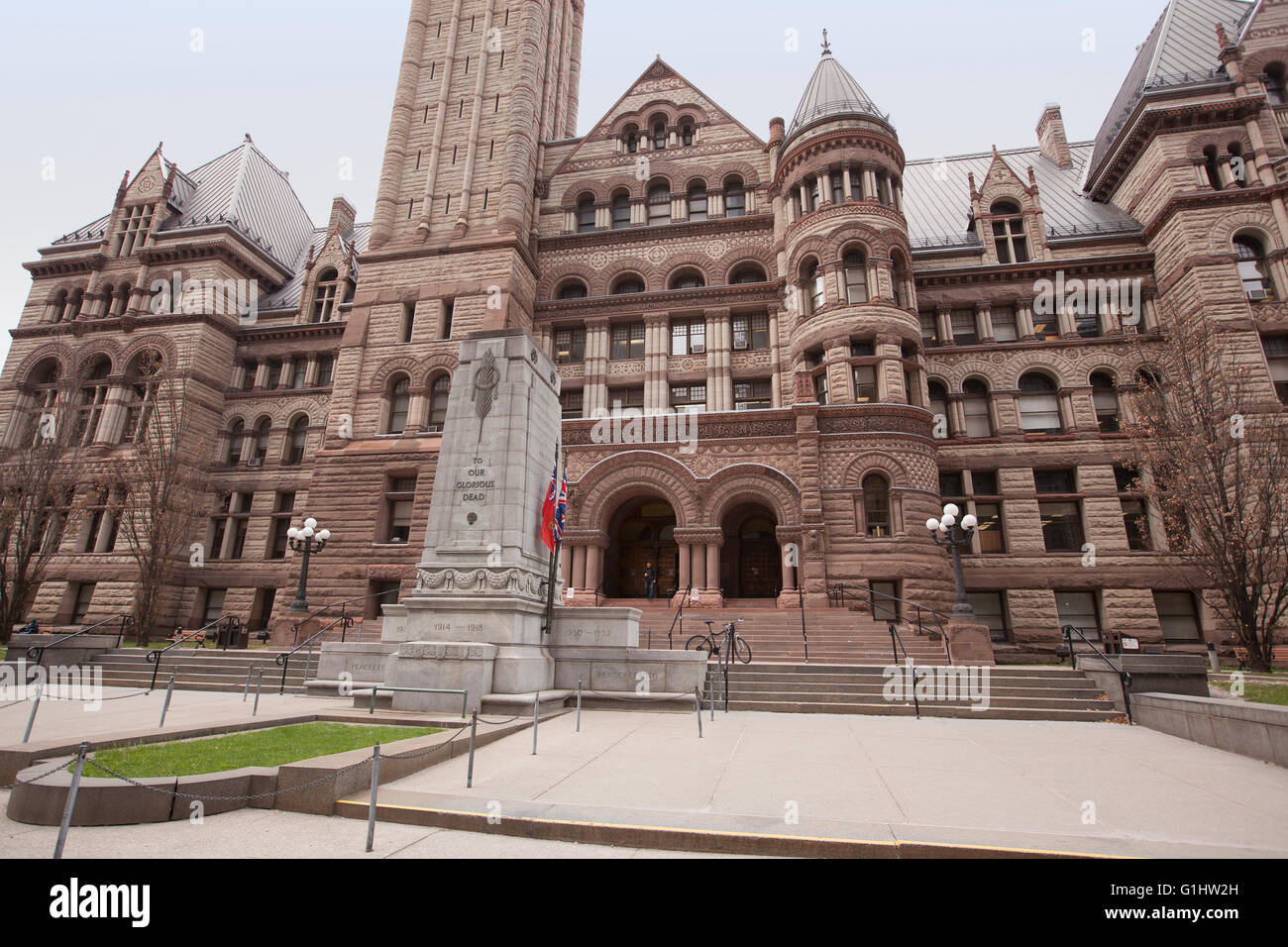 TORONTO - APRIL 28, 2016: Toronto's Old City Hall was home to its city council from 1899 to 1966 and remains one of the city's m Stock Photo