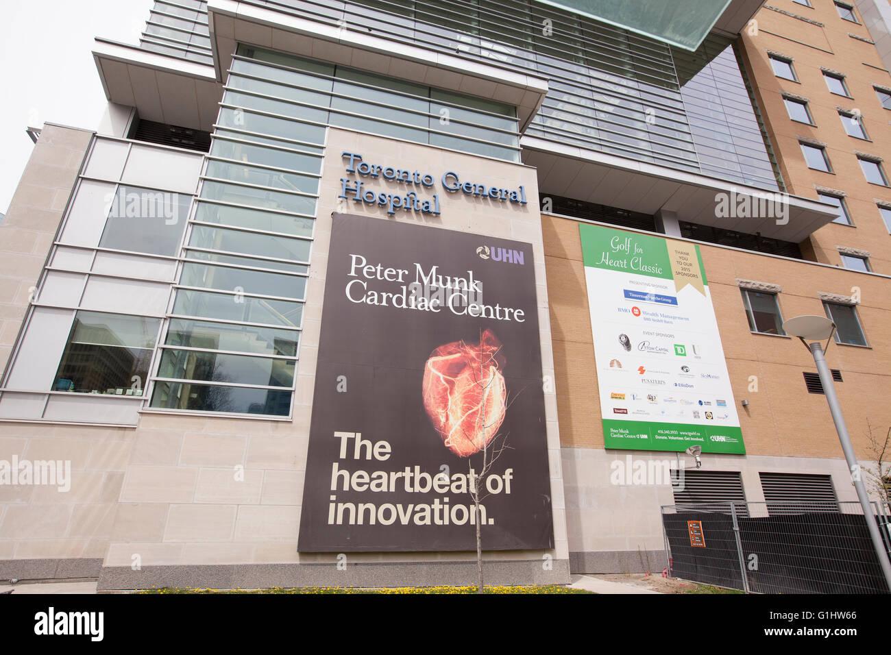 TORONTO - APRIL 28, 2016: Peter Munk Cardiac Center at The Toronto General Hospital, is a major teaching hospital - Stock Image