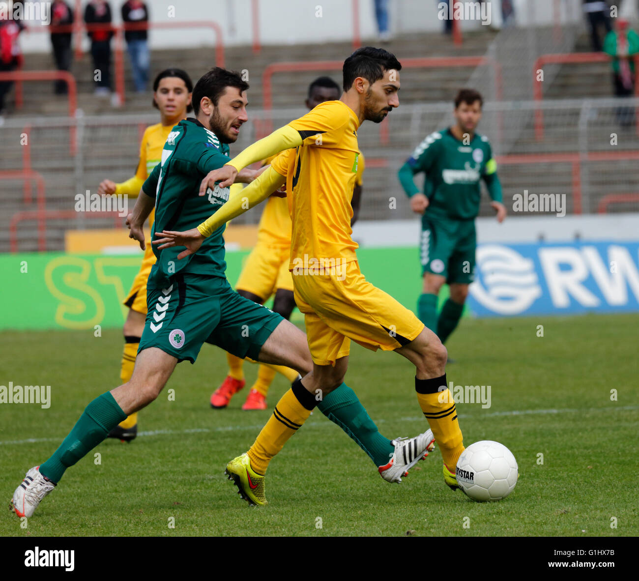 sports, football, Regional League West, 2015/2016, Rot Weiss Oberhausen versus Fortuna Duesseldorf U23 4:2, Stadium - Stock Image