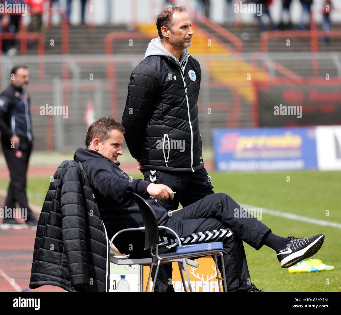 sports, football, Regional League West, 2015/2016, Rot Weiss Oberhausen versus Fortuna Duesseldorf U23 4:2, Stadium Stock Photo