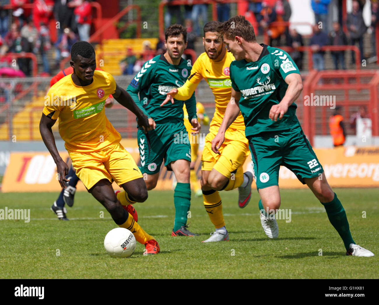 sports, football, Regional League West, 2015/2016, Rot Weiss Oberhausen versus Fortuna Duesseldorf U23 4:2, Stadium - Stock Image