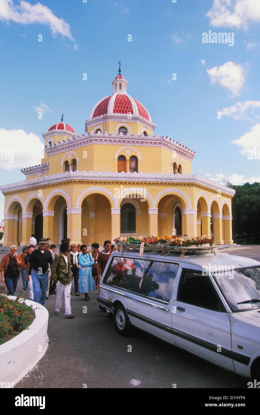 funeral procession in cemetery in Havana Cuba Caribbean - Stock Image