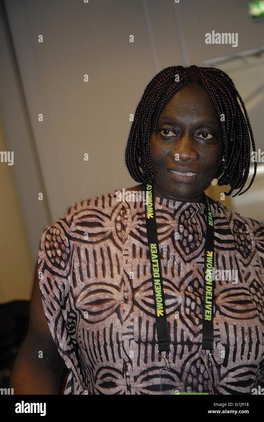 Copenhagen, Denmark. 16th May, 2016. Ms.Theo Sowa   from African Womens Development fund Ghana will moderate seminar - Stock Image