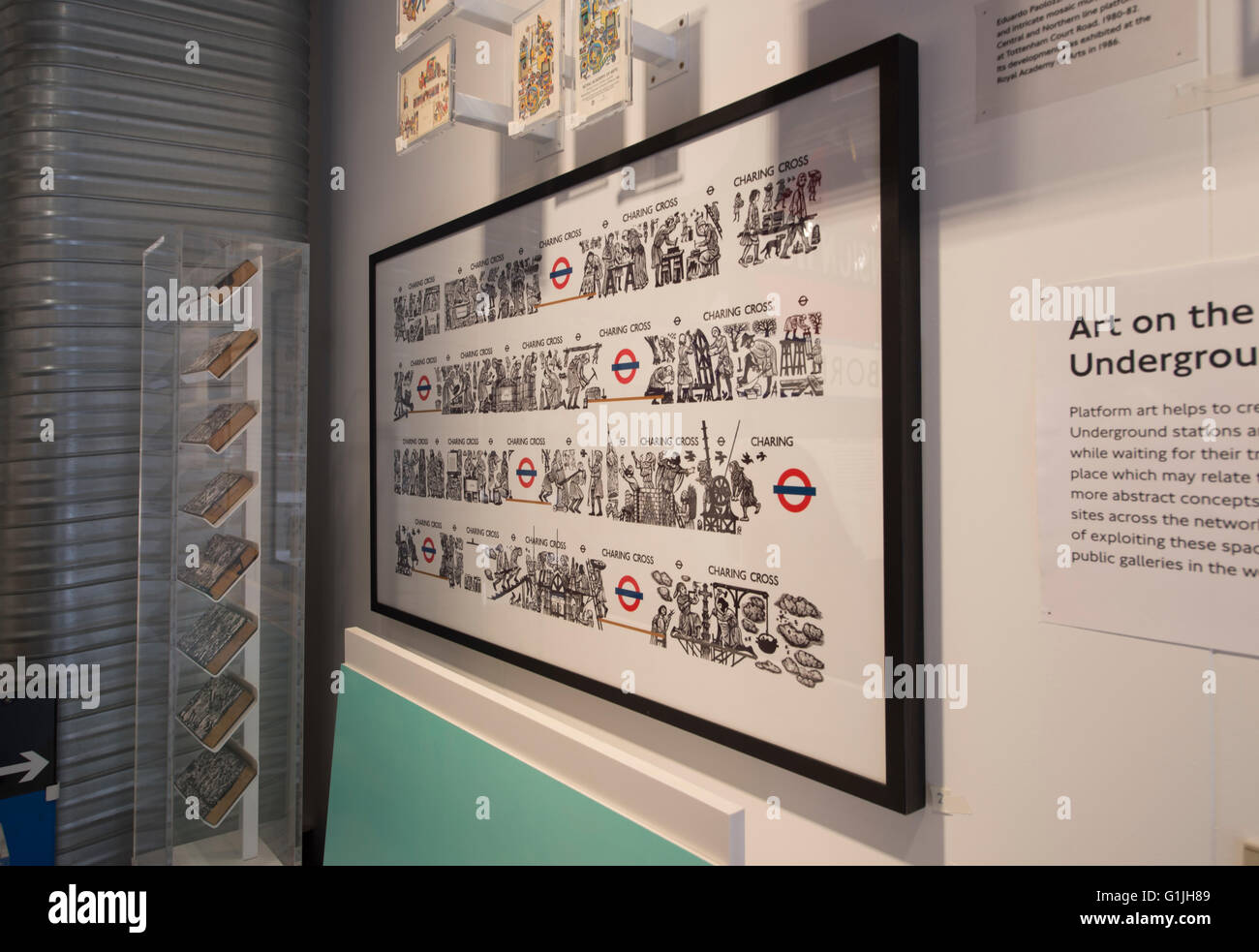London Transport Museum, Covent Garden, London UK. 17th May 2016. Designology: Shaping London. The evolution of - Stock Image