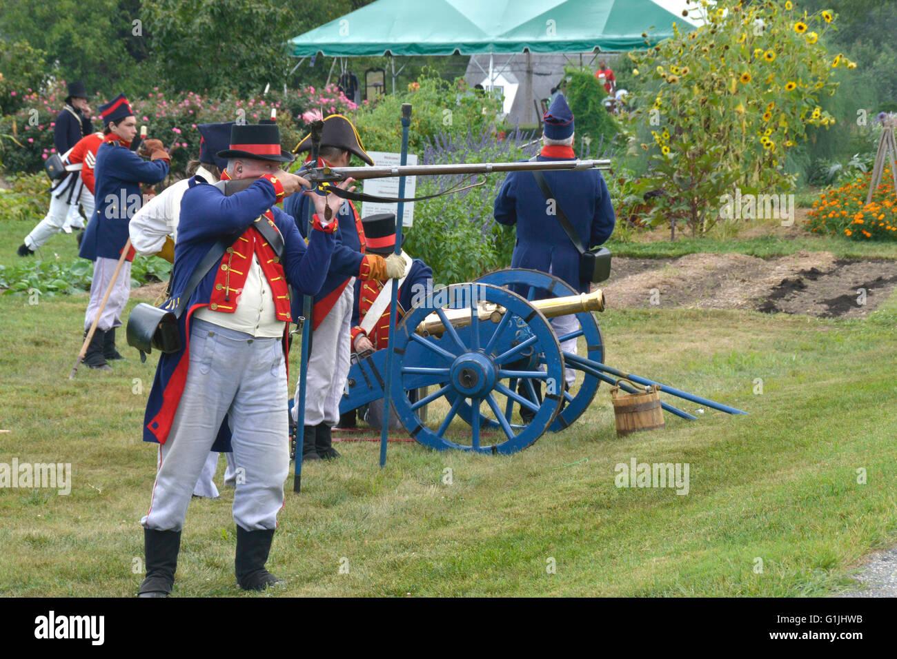 Battle of Bladensburg reenactment - Stock Image